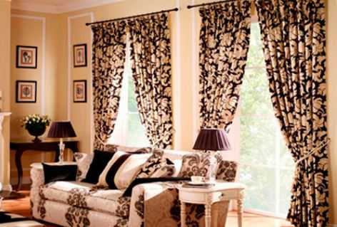 Принципы применения тканей в домашнем интерьере