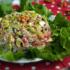 Салат из баклажанов с чесноком и орехами