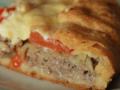 Пирог на картофельном тесте с мясной начинкой