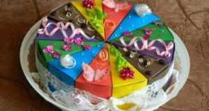 Бумажный торт с пожеланиями – делаем своими руками.