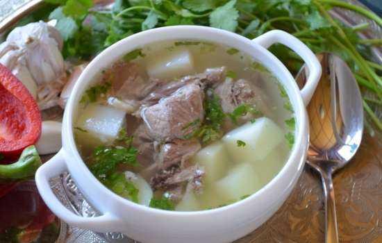Рецепты приготовления шулюма из свинины с дымком, копченостями, овощами