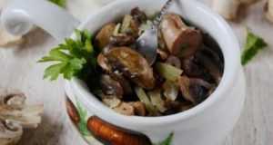 Жареные грибы с луком: правильная технология приготовления